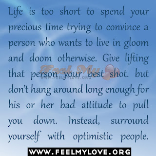 Life is too short to spend your precious time