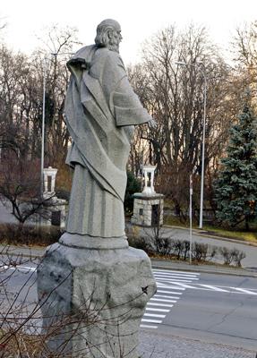 Фото Укринформ: памятник Андрею Первозванному