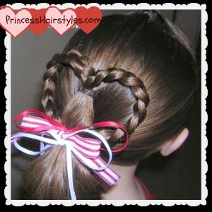heart ponytail