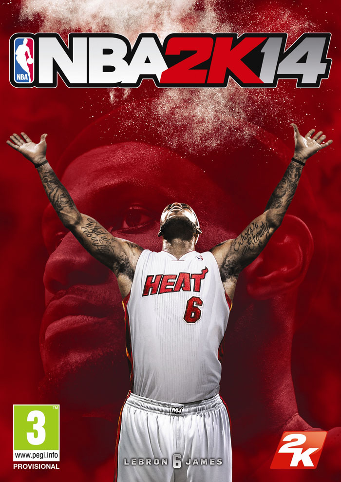 Portada con LeBron James para NBA 2K 14