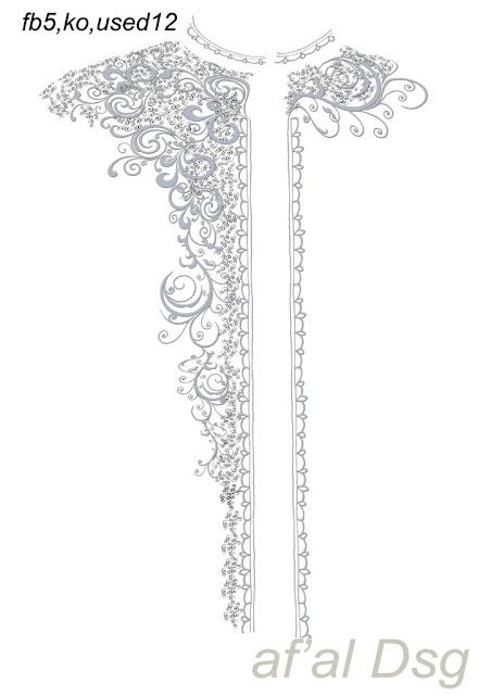 Contoh Desain Motif Bordir Baju Koko