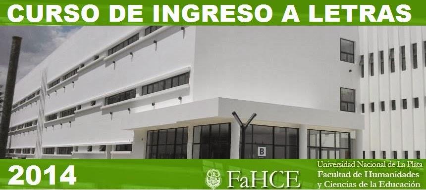 Curso de Ingreso a Letras - FaHCE-UNLP