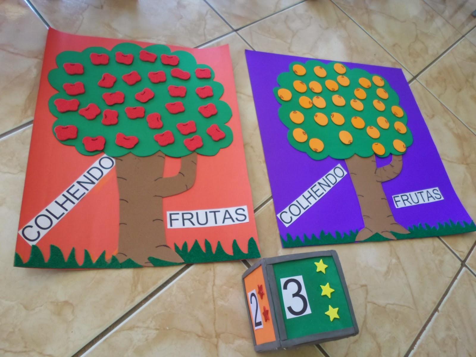 Favoritos Atividades para Educação Infantil: COLHENDO FRUTAS VU09