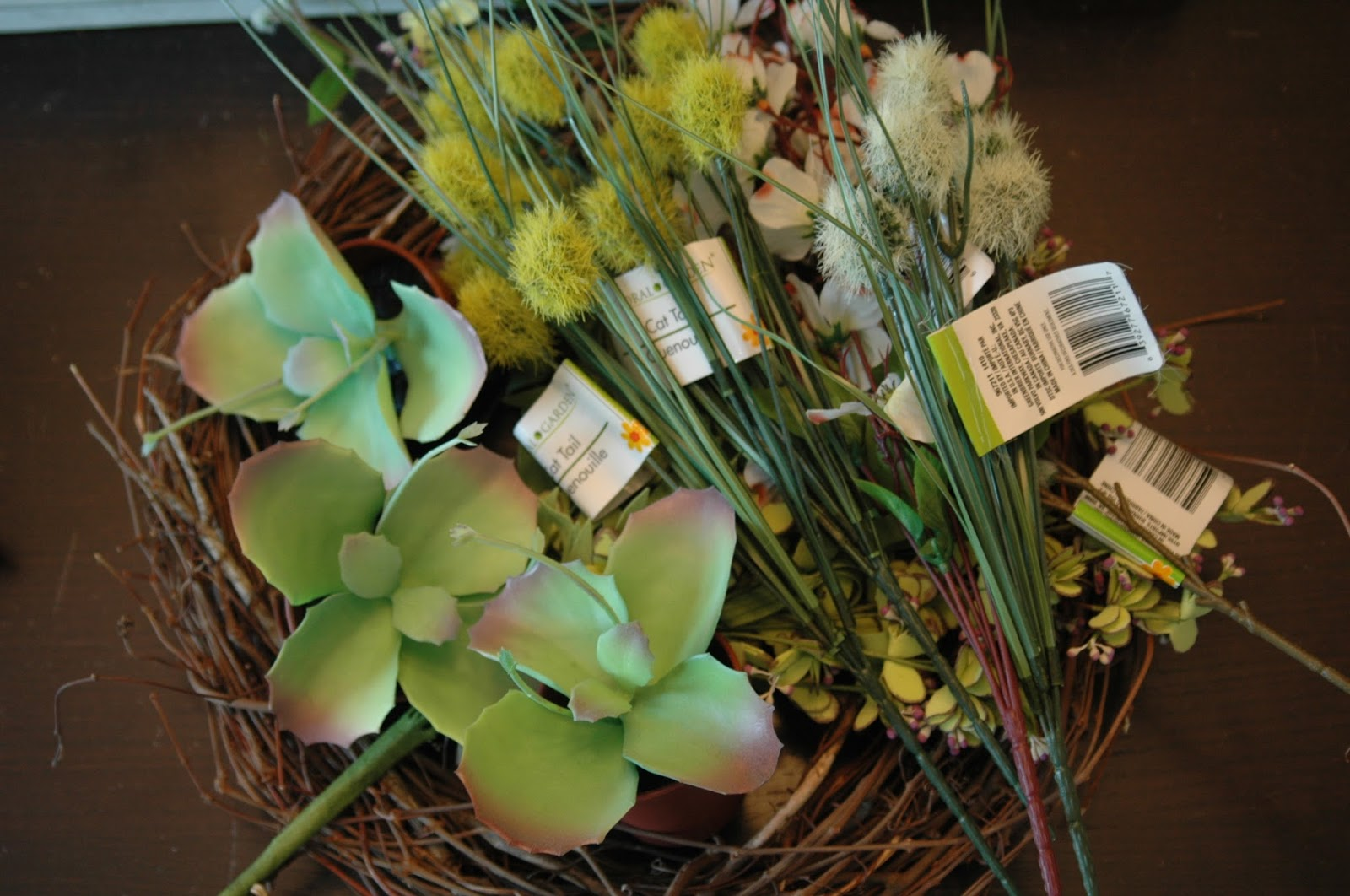 Dollar Store flower supplies