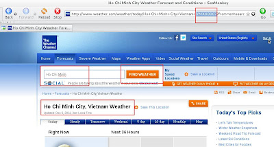 Getting Weather codes from weather.com