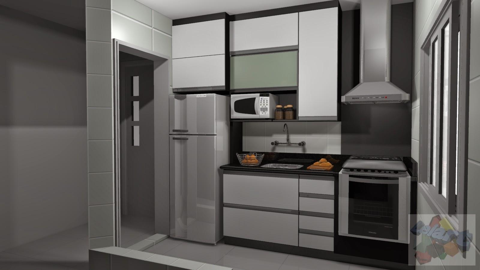 cozinha planejadas pequenas decorada armários planejados quarto  #9E642D 1600 900