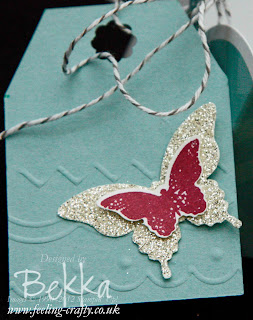 Tag featuring the great Borders Scoring Plate from Stampin' Up!  Find out more here