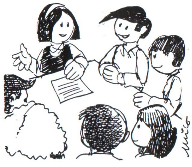 Niños conversando en la escuela para colorear - Imagui
