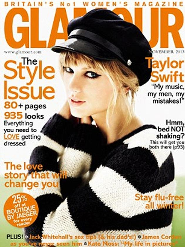 Couverture GLAMOUR Taylor Swift Les interdits de la mode