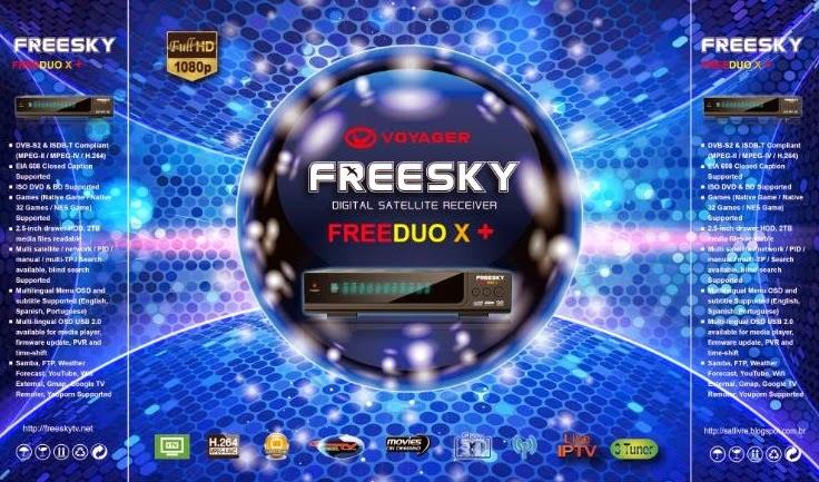 PRIMEIRA IMAGEM FREESKY FREEDUO X + - 27/01/2015