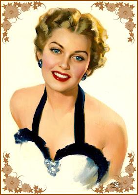 chica retro sonriente vintage