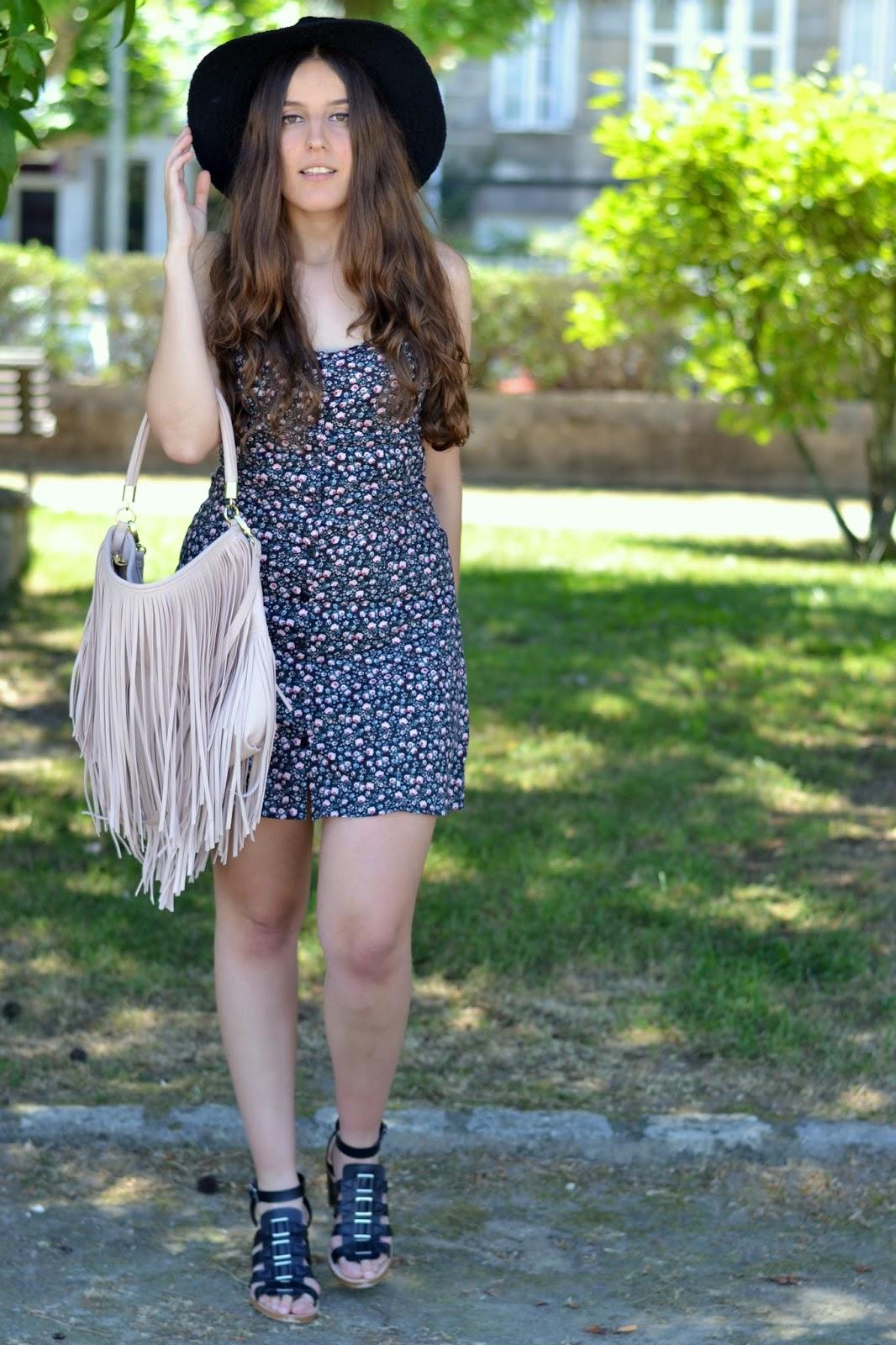 vestido flores verano H&M
