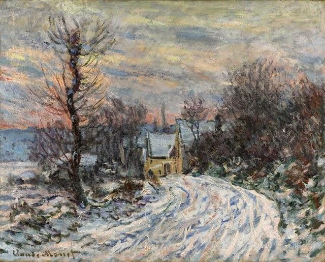 Claude Monet L′entrée de Giverny en hiver. 1885
