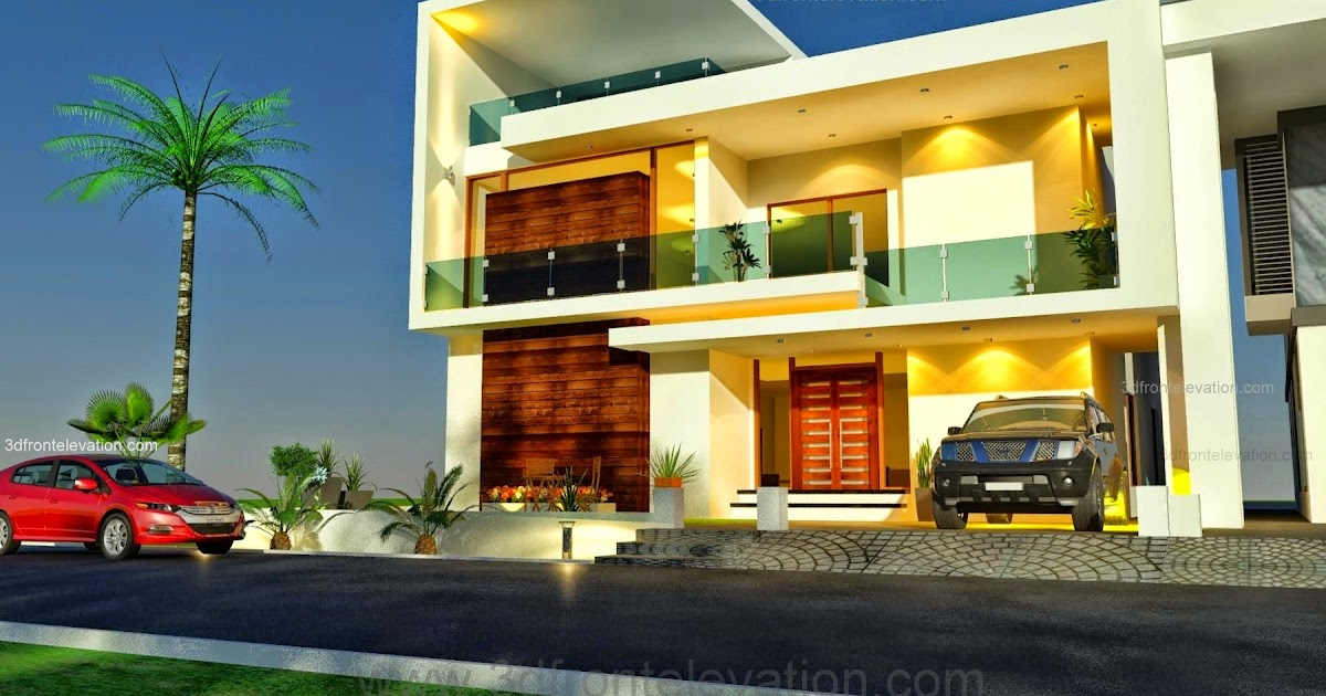 Home Front Elevation Work : D front elevation beautiful pakistani kanal modern