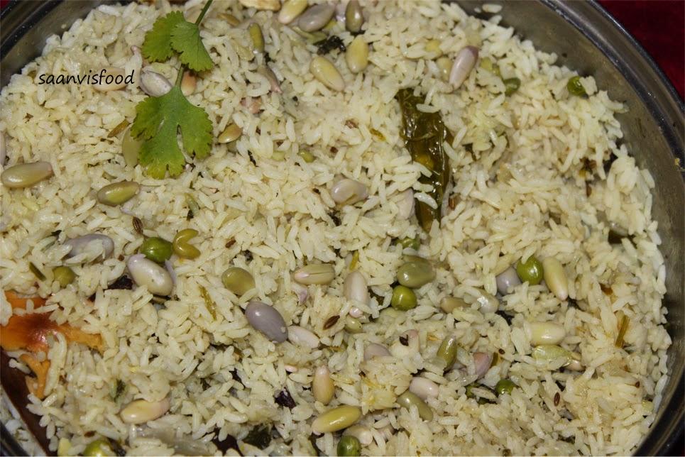 Chikkudu Ginjala Pulao / Lima Beans Pulao