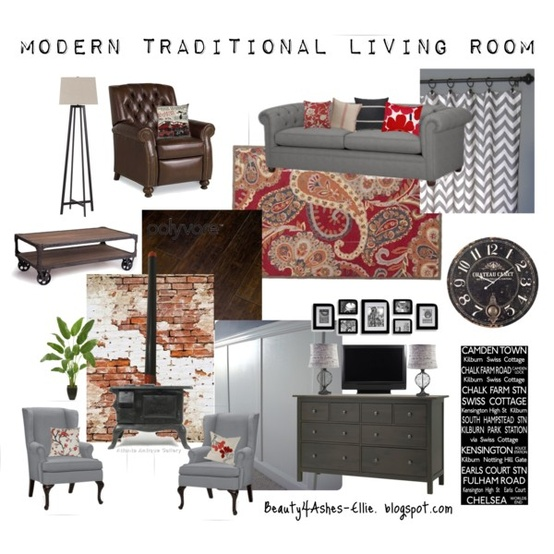 beauty 4 ashes modern traditional living room 31 days of moodboards. Black Bedroom Furniture Sets. Home Design Ideas