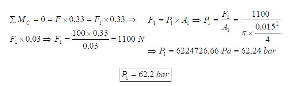 Ejercicio resuelto de estatica de fluidos formula problema 1