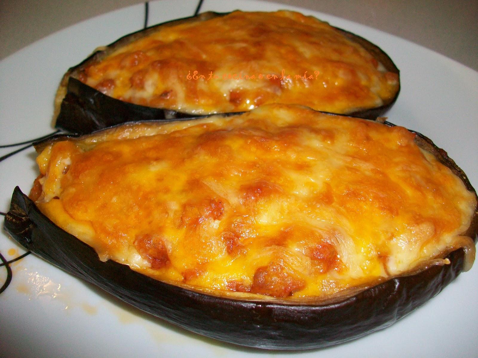 En tu cocina o en la m a berenjenas rellenas for Cocina berenjenas rellenas