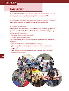 Evaluación - Formación Cívica y Ética 6to Bloque 5 2014-2015