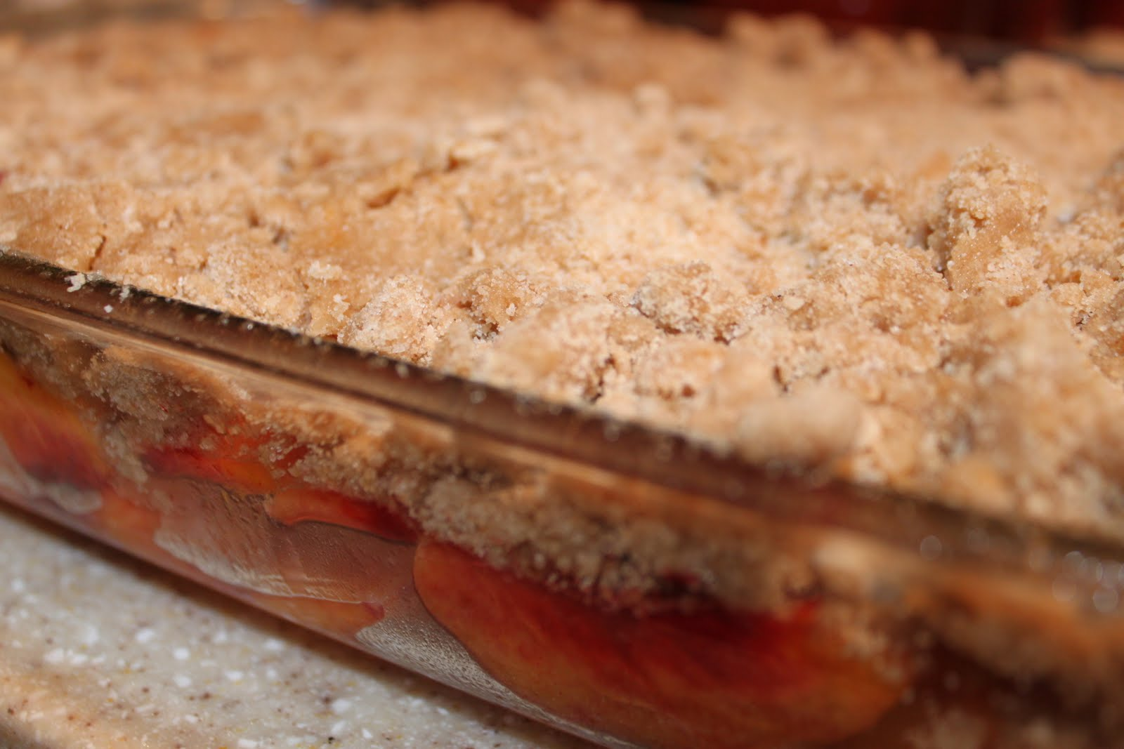 Peach Crisp With Maple Cream Sauce - 2 Maids a Baking ...