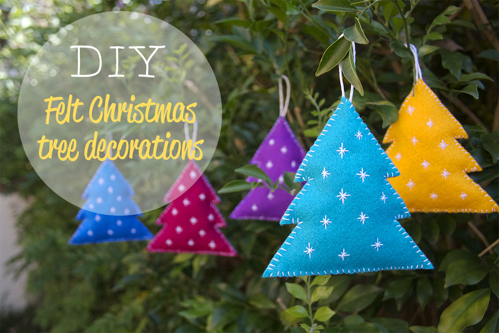 Diy felt christmas decorations crafted - How to make felt christmas decorations ...