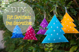 Make Things for Home: DIY - Felt Xmas Decorations