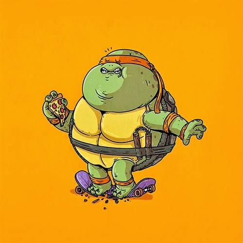 Fat Super Hero Gemuk - Ninja Turtle Fat Michelangelo