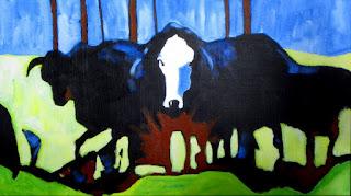 cow | art | painting | docker