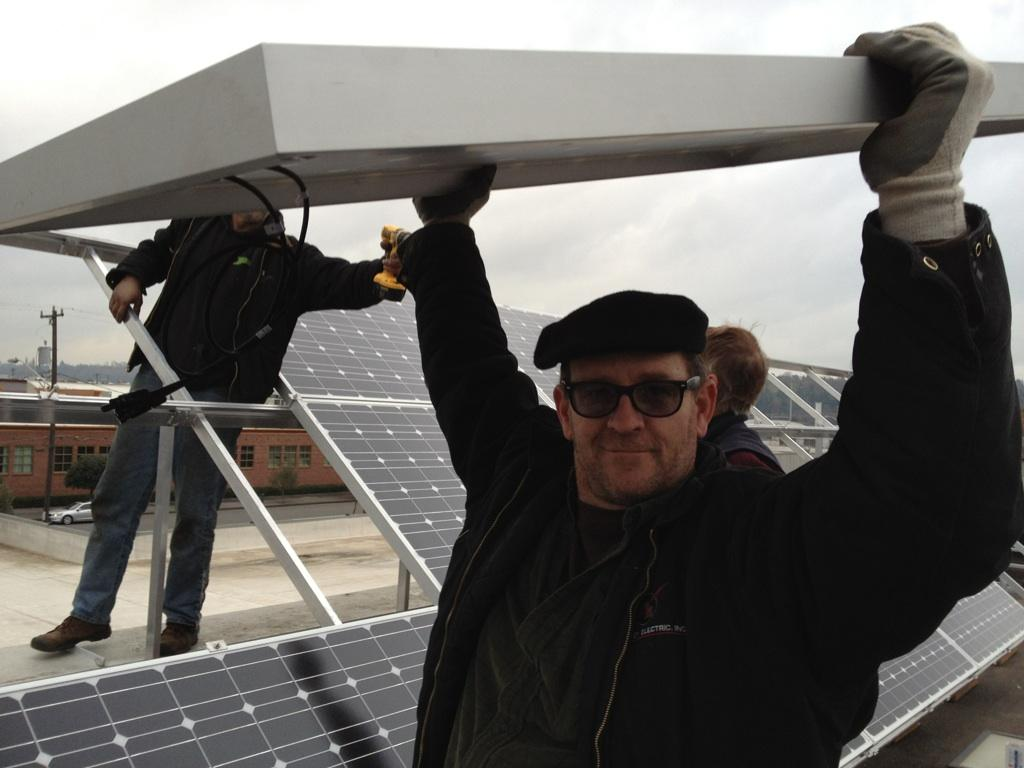 The first ITEK solar install in Seattle2011