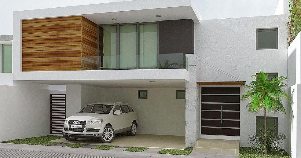 Fachadas de casas modernas hermosa fachada de casa en for Fachada minimalista una planta
