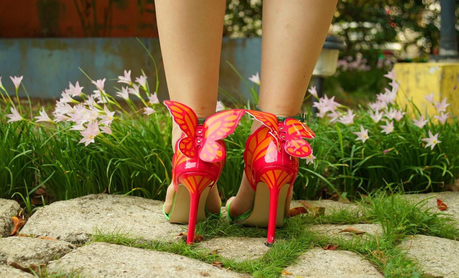 Pretty Butterfly Heels