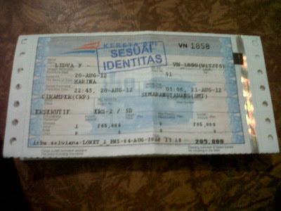 Tiket yang Sesuai Identitas