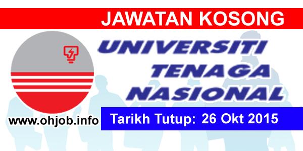 Jawatan Kerja Kosong Universiti Tenaga Nasional (UNITEN) logo www.ohjob.info oktober 2015
