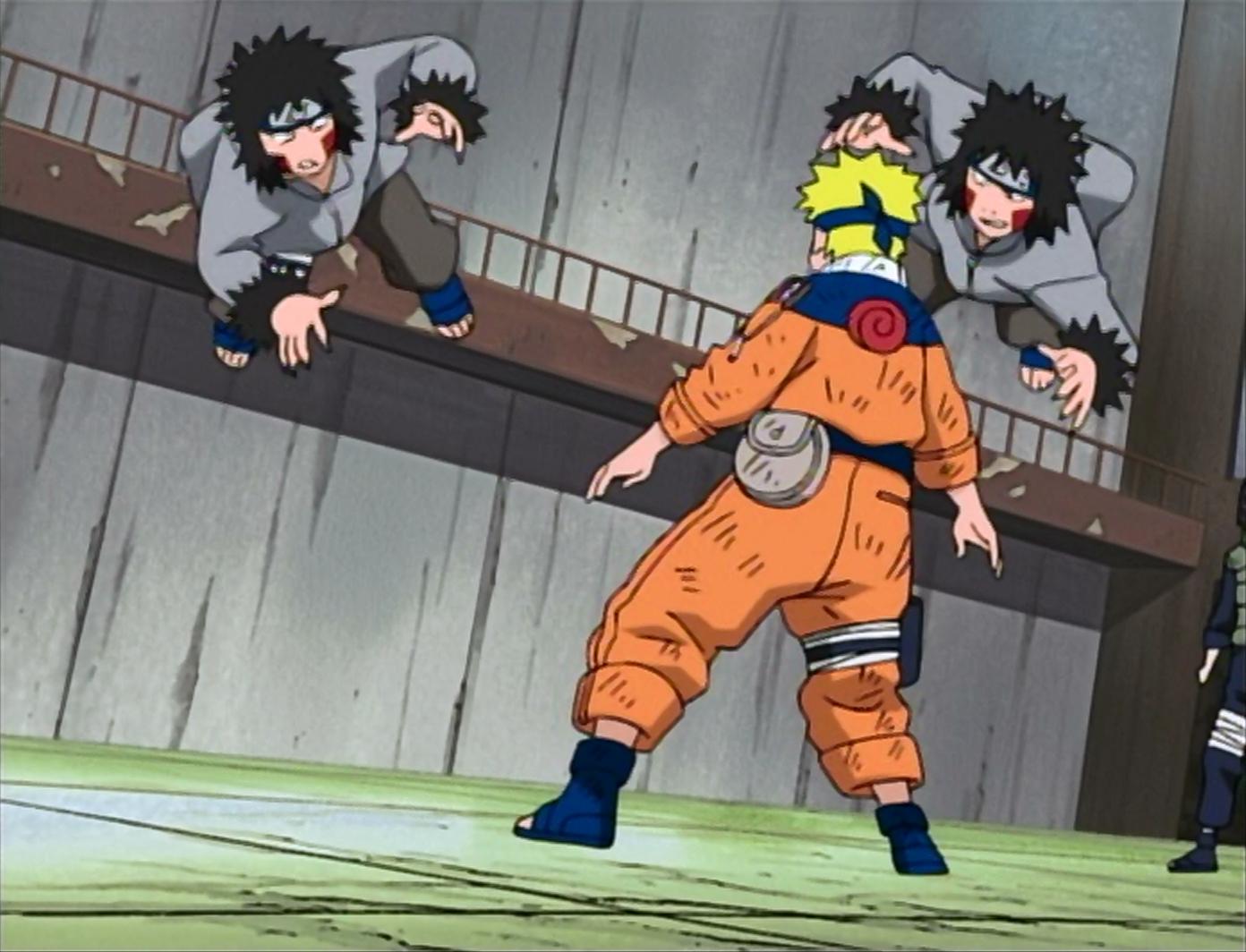 Naruto vs Kiba dan Akamaru