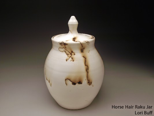Horse Hair Raku Covered Jar by Future Relics Gallery