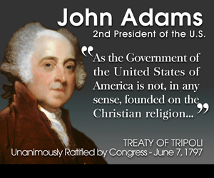 united america founded christian religion signed president john adams congress