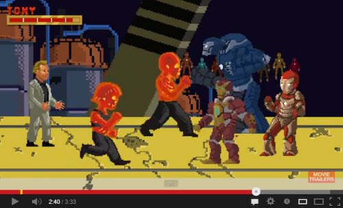 Iron Man 3 versión 16 bits