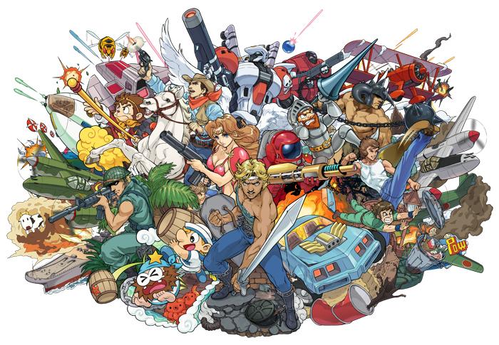 Fabuloso artwork de Capcom Arcade con todos los personajes