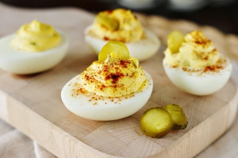 Classic Southern Deviled Eggs ~ The Kitchen is My Playground