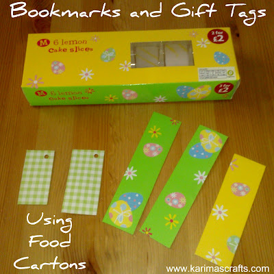 upcycle cardboard boxes bookmarks gift tags