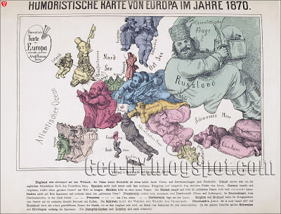 The hegemonies in Europe in 1870