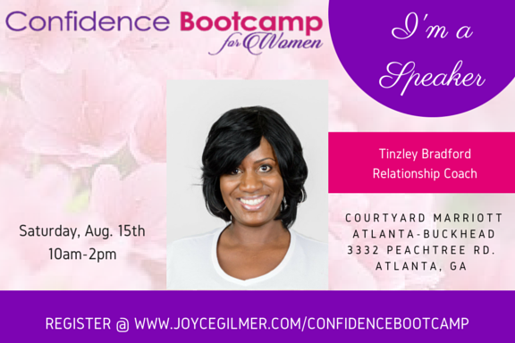 Yay! I AM A SPEAKER AT THE 2015 CONFIDENCE BOOT CAMP!