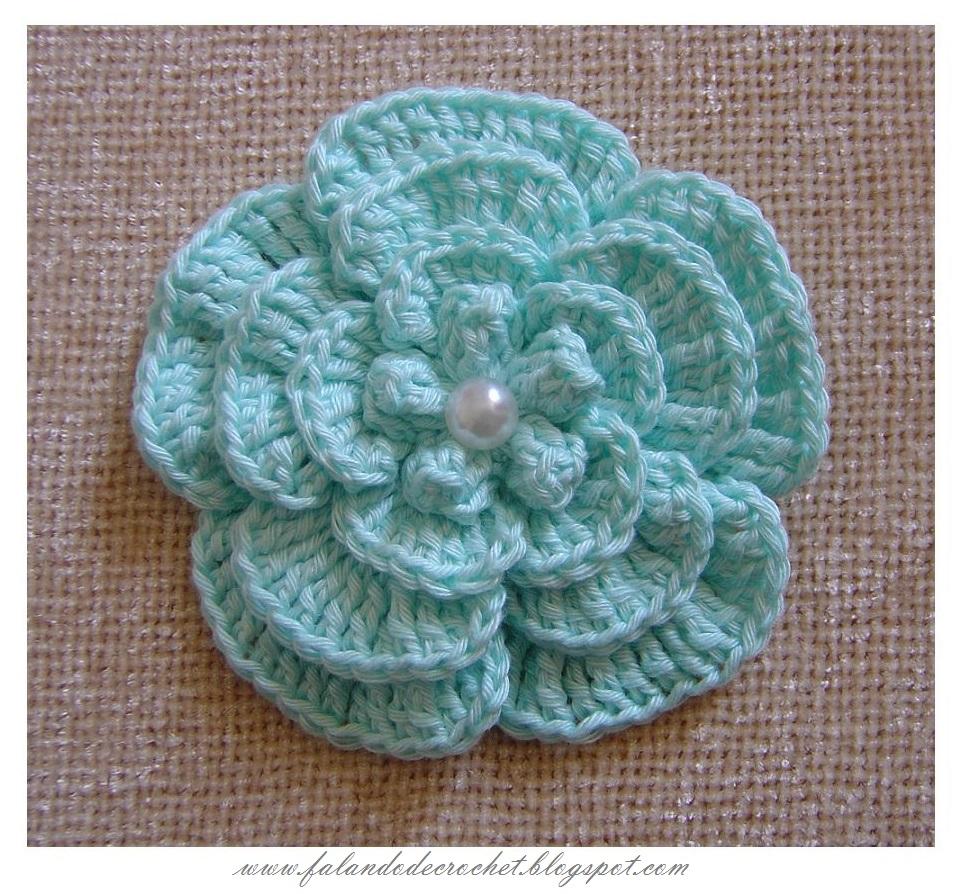 Falando De Crochet Flor De Croche Maravilhosa