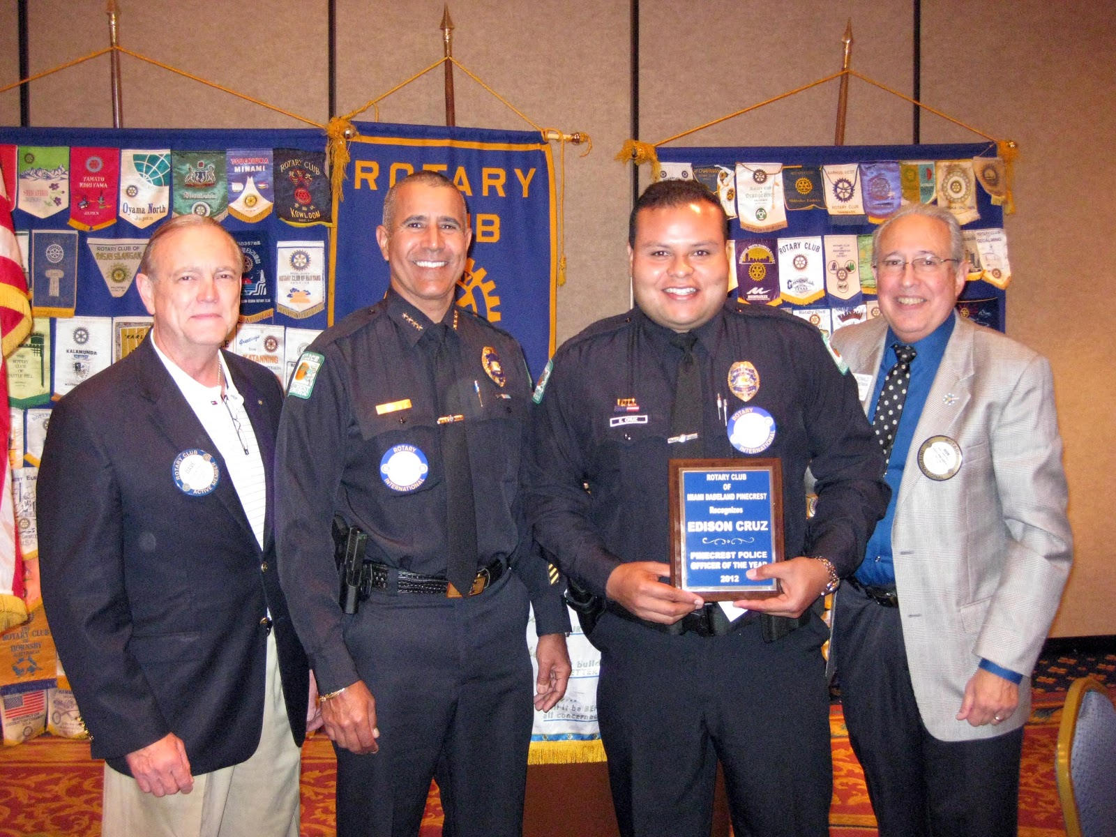 Pinecrest's new police chief Samuel Ceballos, Officer of the year Edison Cruz