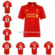 camisetas futbol baratasCamiseta Liverpool 1 Equipacion 201213