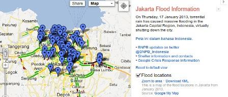 Google Sediakan Aplikasi Untuk Pantau Banjir Jakarta