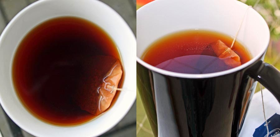 hot golden tea