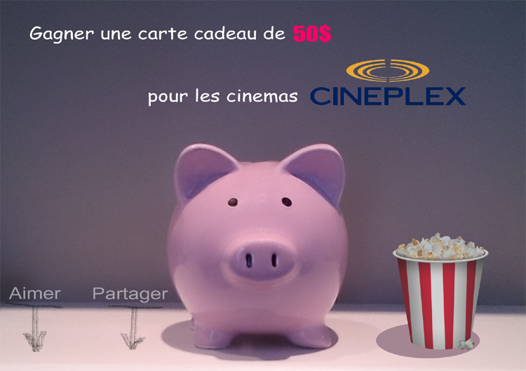 les coupons rabais une carte cadeau de 50 de cineplex. Black Bedroom Furniture Sets. Home Design Ideas