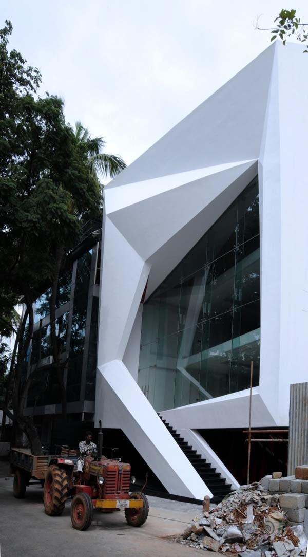The jewel box chiseled commercial architecture in bangalore for Architects in bangalore