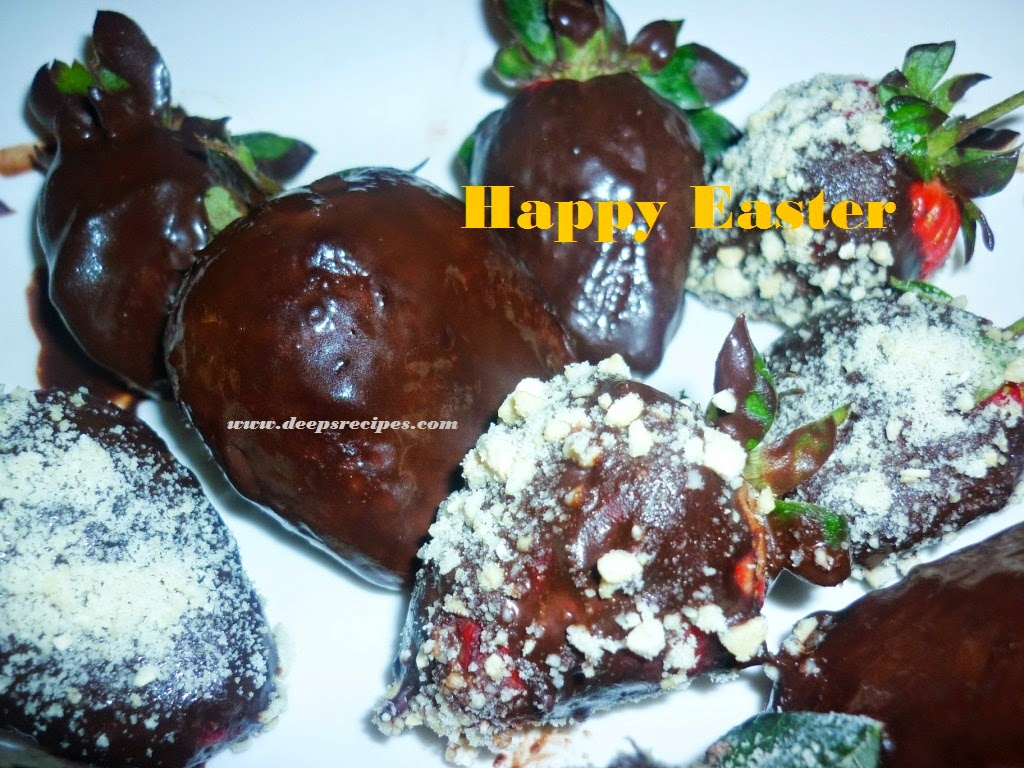 deepsrecipes Easter chocolate strawberries